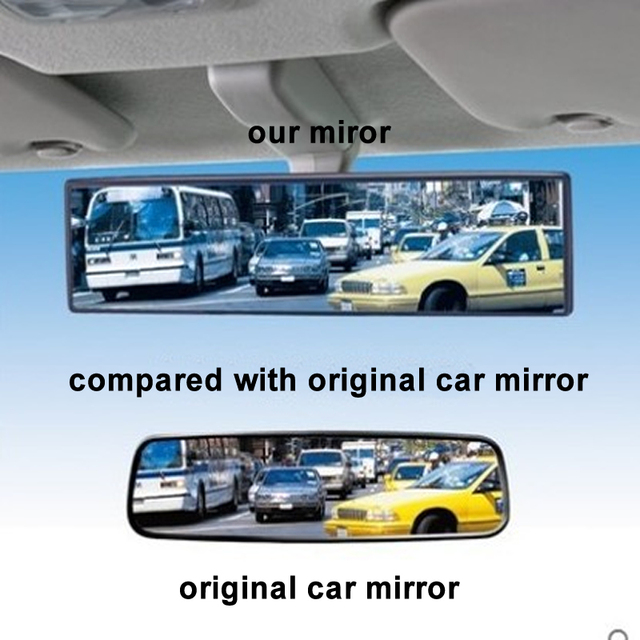 General Car Rearview Mirror Planar Large Sucker Interior Baby Reversing Wide Angle HD Curved Mirror 1PC 2