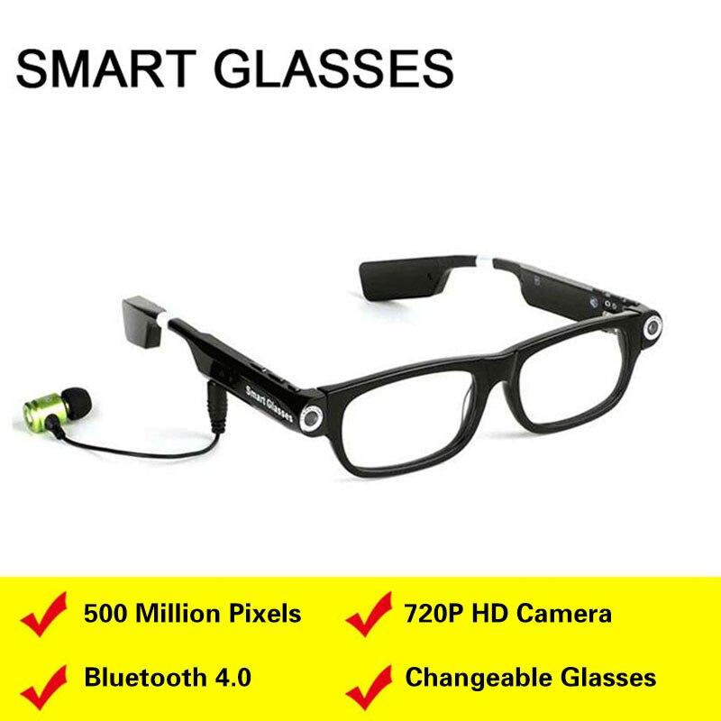 Lunettes intelligentes caméra vidéo Bluetooth casque 4.0 mains libres téléphone synchronisation GPS invite musique sommeil alarme pour téléphones IOS Android