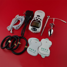 Male Electro-Stimulation Play Sex Kit Sex Toy Electro Shock Therapy Urethral Penis Plug Cock Ring Butt Anal Plug