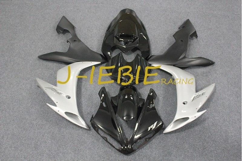 Black silver Injection Fairing Body Work Frame Kit for Yamaha YZF 1000 R1 2004 2005 2006
