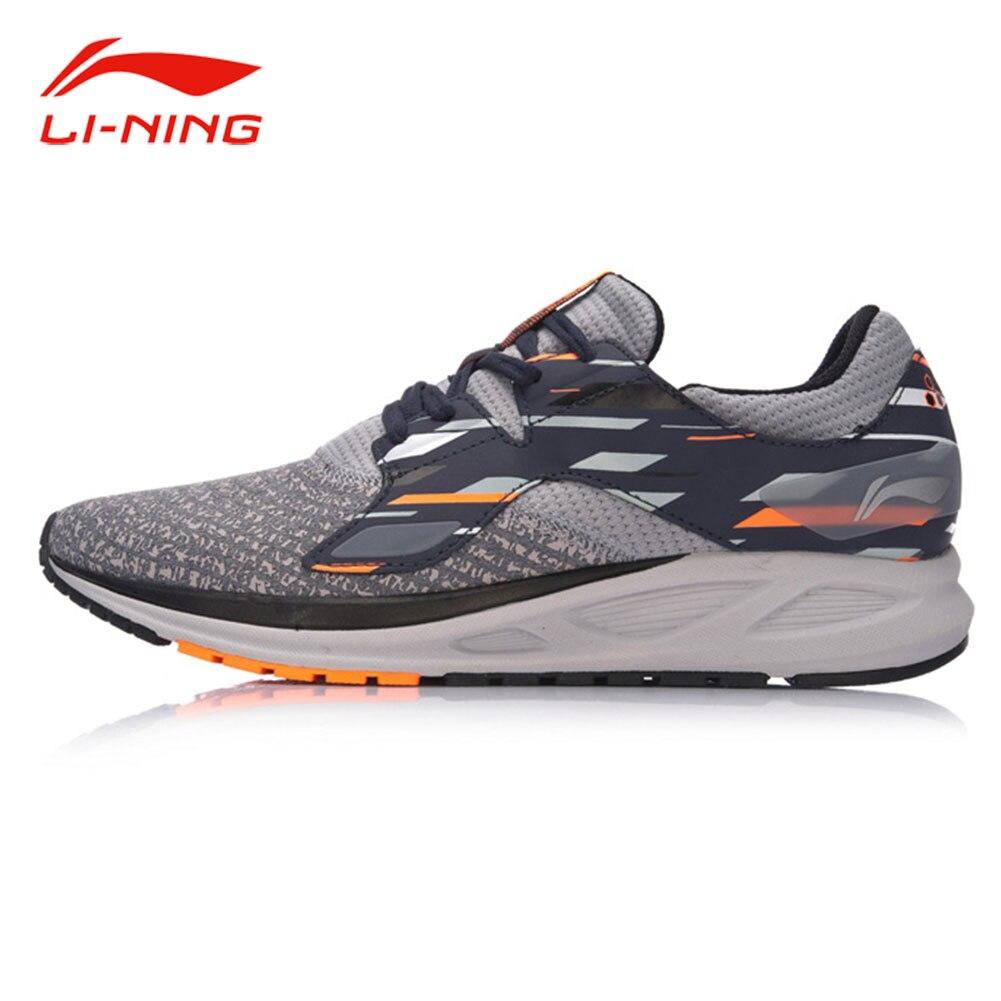 Li-Ning Men FLASH Light Comfort Running Shoes Wearable Anti-Slip Fitness Sneakers LI NING Autumn Flexible Sports Shoes ARBM057 original li ning men s breatnable running shoes sneakers free shipping