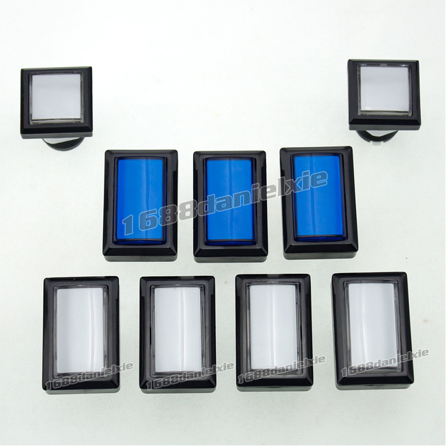 US $23 1 20% OFF|9x Arcade Beatmania IIDX DIY Kit Parts LED Light  Illuminated Rectangular Buttons-in Replacement Parts & Accessories from  Consumer