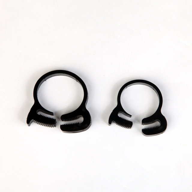 Plastic Hose Clamps >> Us 5 27 11 4 12 4mm Plastic Hose Clamp Flexible Tube Clip White Black Environmental Engineering Materials For Garden Fish Aquarium In Clamps From