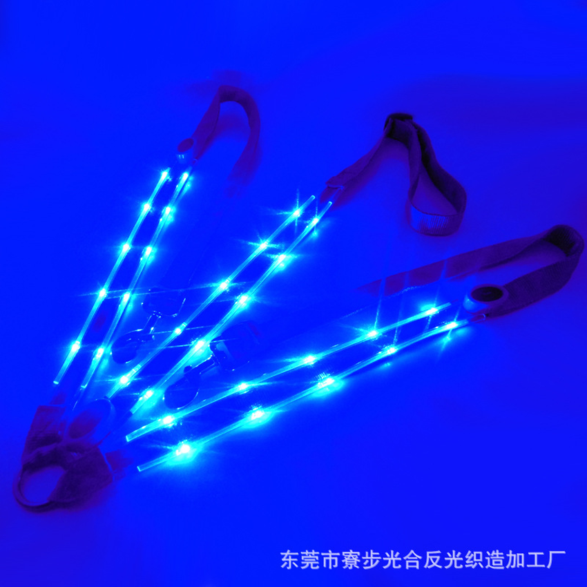 Image 5 - LED Horse Collar Bridle Halter Visibility Tack Horse Riding Equestrian Safety Gear In Night Horse LED Breastplate Collar Lights-in Halters from Sports & Entertainment