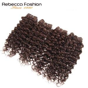 Rebecca Maleisische Jerry Krullend Wave Weave Haar 4 Bundels 190 G/pak Niet Remy Krullend Menselijk Haar Bundels 4 Kleuren #1 # 1B #2 #4
