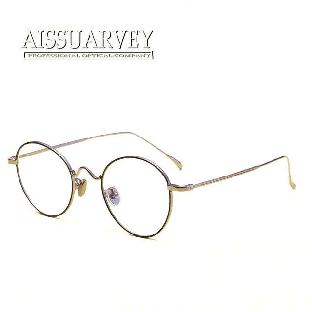 c0b4dfa76d Retro Eyeglasses Frame Women Men Fashion Optical Eyewear Round Metal Korean  Glasses Frame Myopia Black Silver