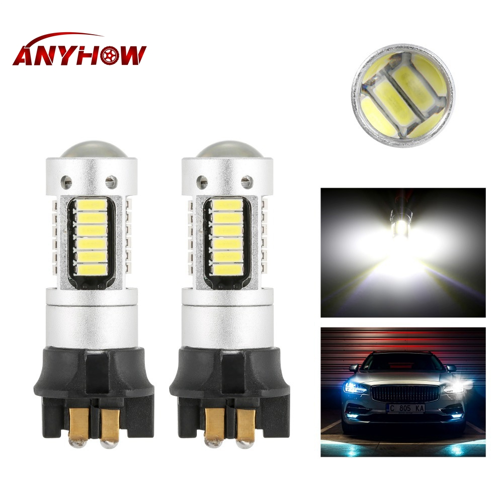 Canbus OBC <font><b>PW24W</b></font> PWY24W LED Bulbs For Audi BMW Volkswagen Turn Signal Lights Daytime Running Lights White yellow image
