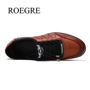 Image 3 - 2020 yeni erkek yüksek kaliteli nefes alan günlük ayakkabılar erkek rahat kaymaz deri ayakkabı adam hafif düz yürüyüş spor ayakkabı