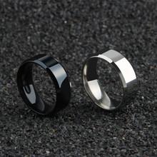 Tytanu pierścień mężczyzn tanie tanio Pierścionki Moda Strona Klasyczny Okrągły Brak Mężczyźni Metal Zespoły weselne ShuangXieBianGuangMian Z Cool