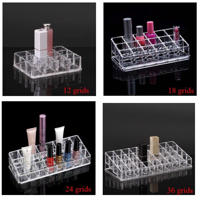 Прозрачная стойка для помады PS, органайзер для лака для ногтей, коробка для хранения ювелирных изделий, полка для лака для ногтей, органайзе...