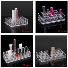 clear PS lipstick rack nail polish organizer jewelry storage box nail polish rack makeup organizer(China)