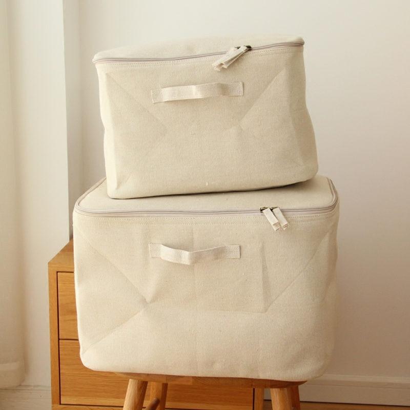 Nové velké bavlněné prádlo skládací skladovací taška domácí úložiště organizace deka hračka skladovací krabice koše oblečení organizér cestovní taška