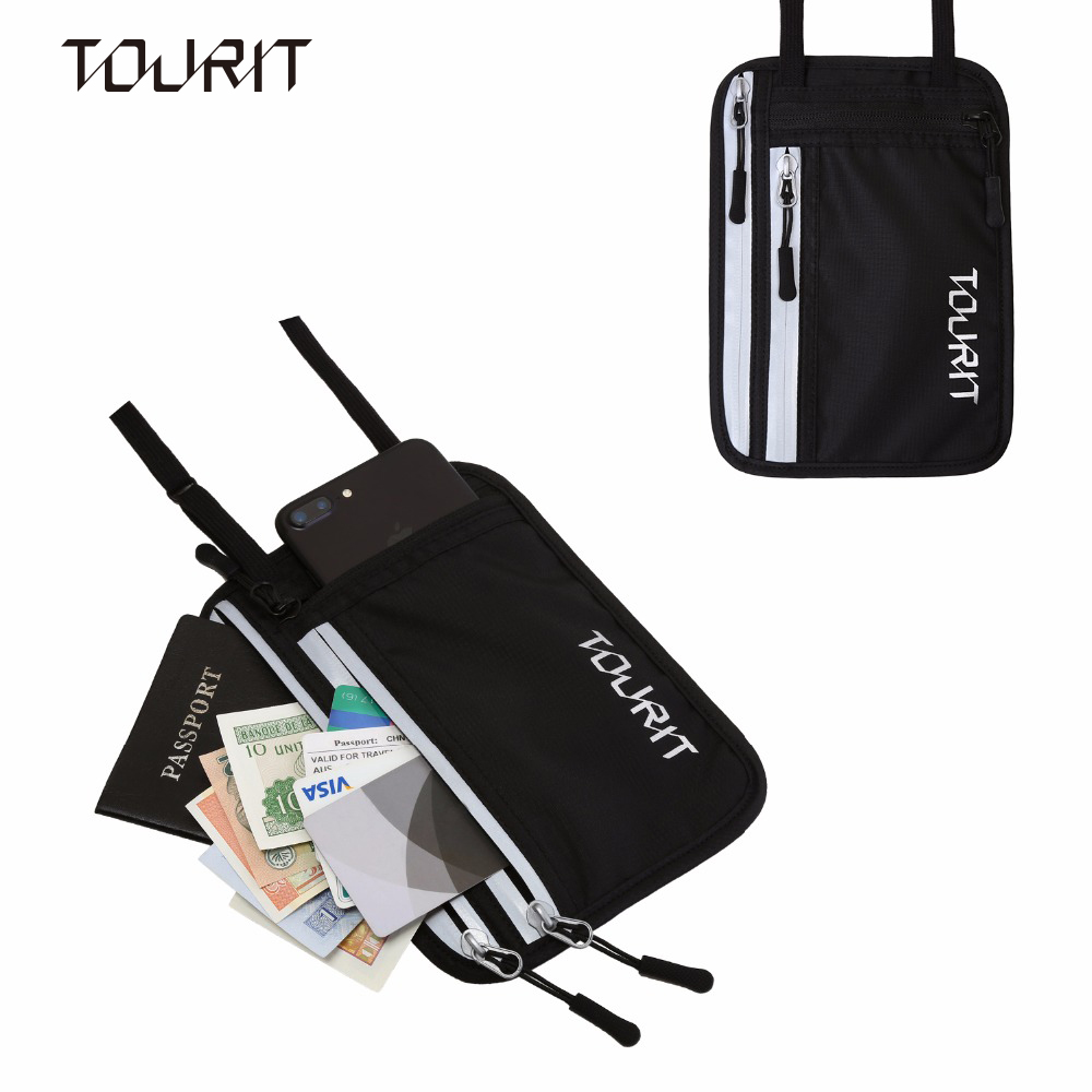 TOURIT Travel Pouch Passport Holder Neck Wallet RFID Blocking Travel Accessory Bag for Cash Cards Waist Bag multifunction Bags creative pattern waterproof lasting neck waist tattoo accessory