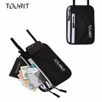 Tourit bolsa del recorrido y pasaporte-Masajeadores de cuello cartera RFID bloqueo-negro, gris