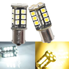 2PCS White Warm white Car 1156 382 Tail Turn Signal 30 SMD LED 3.8W Bulb Lamp Light BA15S P21W