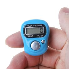 Mini Stitch Marker And Row Finger Counter LCD Electronic Digital Tally Counter For Sewing Knitting Weave Tool Finger Counter Ran