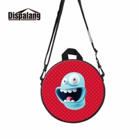 Dispalang Multifunctional Kids Cartoon Bag Dual Use Shoulder Bags Round Design Cute Mini Bag For Girls
