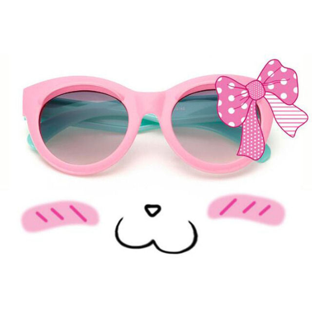 Child Sunglasses Cartoon Eyebrows Children Glasses Anti Uv Eyewear