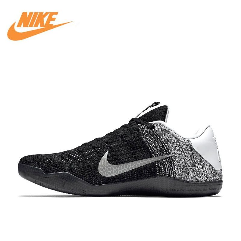 Nike Original New Arrival Authentic Kobe 11 Elite Low Men's Breathable Basketball Shoes Sports Sneakers 822675-105 все цены