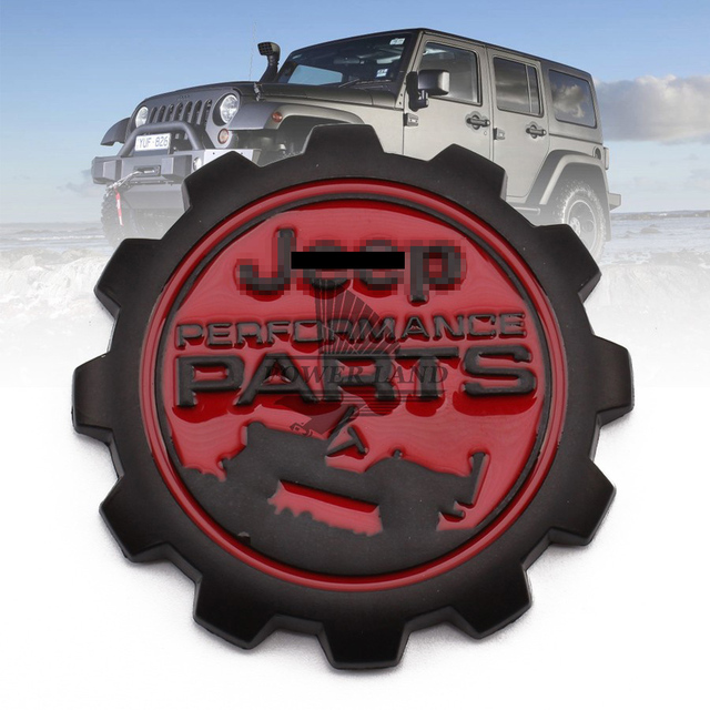 Great 3D Refitting Metal Vintage Car Sticker Badge Emblem Black+Red Universal For Jeep  Performance PARTS