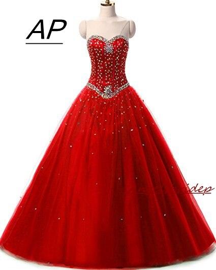ANGELSBRIDEP Pink Quinceanera Dress Sweet 16 Luxury Sweetheart Crystal Tulle Plus Size Vestido De Debutante Formal