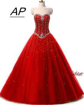 ANGELSBRIDEP Pink Quinceanera Dress Sweet 16 Luxury Sweetheart Crystal Tulle Plus Size Vestido De Debutante Formal Pageant Gown - DISCOUNT ITEM  17% OFF Weddings & Events
