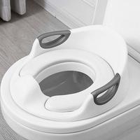 Children Trainer Toilet Seat PU Cushion Extra Large Baby Toilet Seat Armrest Child Toilet