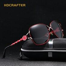 HDCRAFTER 2017 de Marcas De Lujo Gafas De Sol Femeninas de Gran Tamaño Rojo Gafas de Sol Polarizadas para Las Mujeres Damas de Conducción gafas de sol mujer