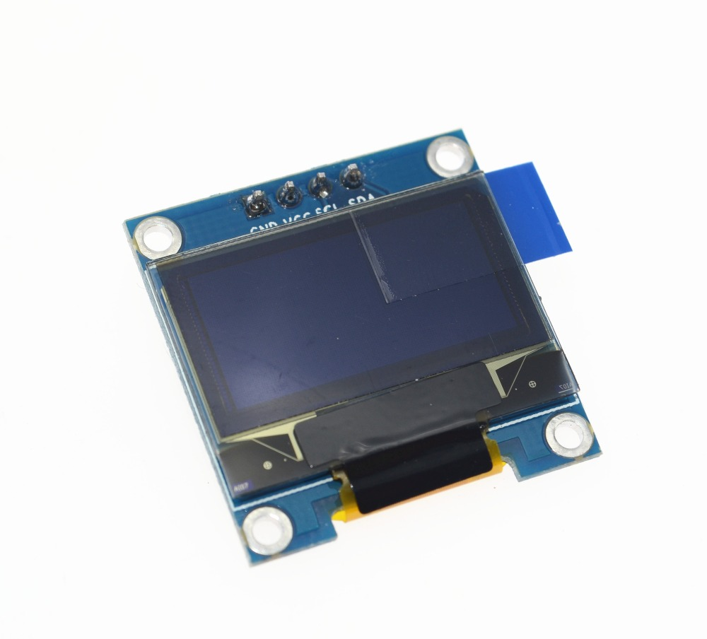 Free Shipping 1Pcs Yellow Blue Double Color 128X64 OLED LCD LED Display Module For 0.96