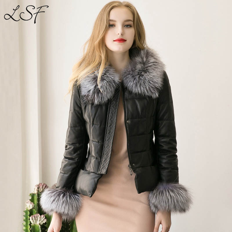 2017 Winter Faux Fur Coat Female Leather Jacket Coat Women Plus Size XXXL Long Sleeves O-Neck Patchwork Winter Fur Coat T0530-D