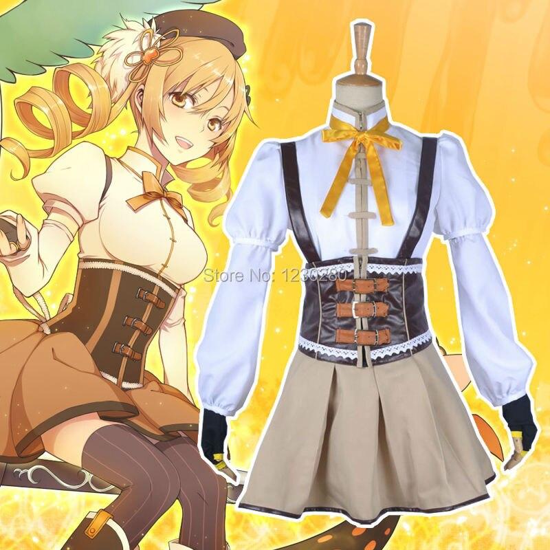 ⓪puella Magi Madoka Magica Tomoe Mami Cosplay Costume A361