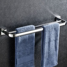 60 cm toalla Rack titular montado en la pared colgante Bar baño toalla Bar Acero  inoxidable baño acabado cromo almacenamiento de. 2299a2f7c3ea
