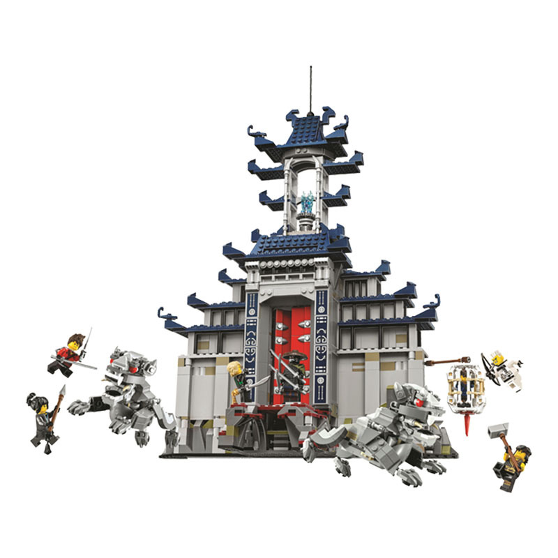 New 10722 Ninja series The Temple of The Ultimate Ultimate Weapon Model Building Blocks set Compatible 70617 Toys for children nexo knights series the stone colossus of ultimate destruction model building blocks compatible legoingly toys for children