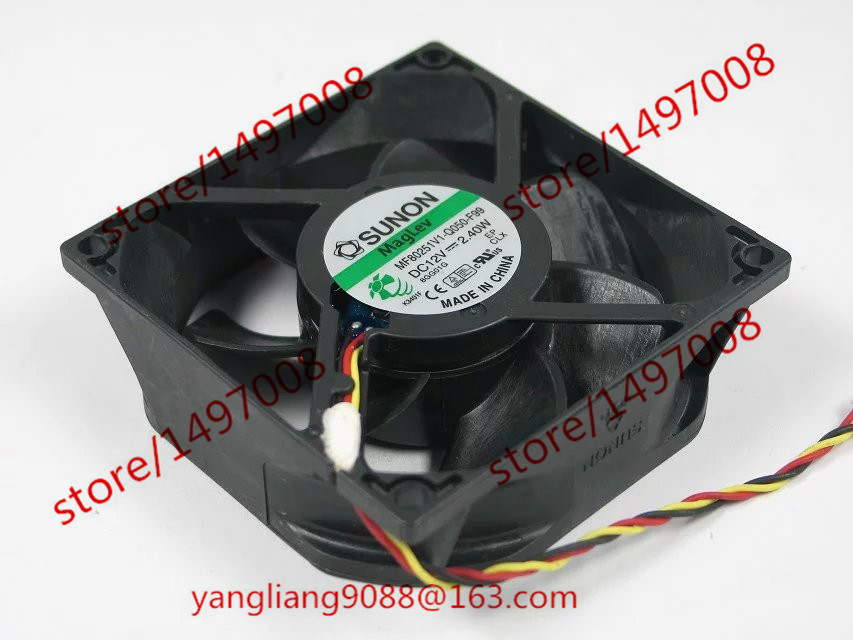 SUNON MF80251V1-Q050-F99 DC 12V 2.40W 80X80X25mm Server Square Fan sanyo 9s0812p4f051 dc 12v 0 13a 4 pin 80x80x25mm server square fan