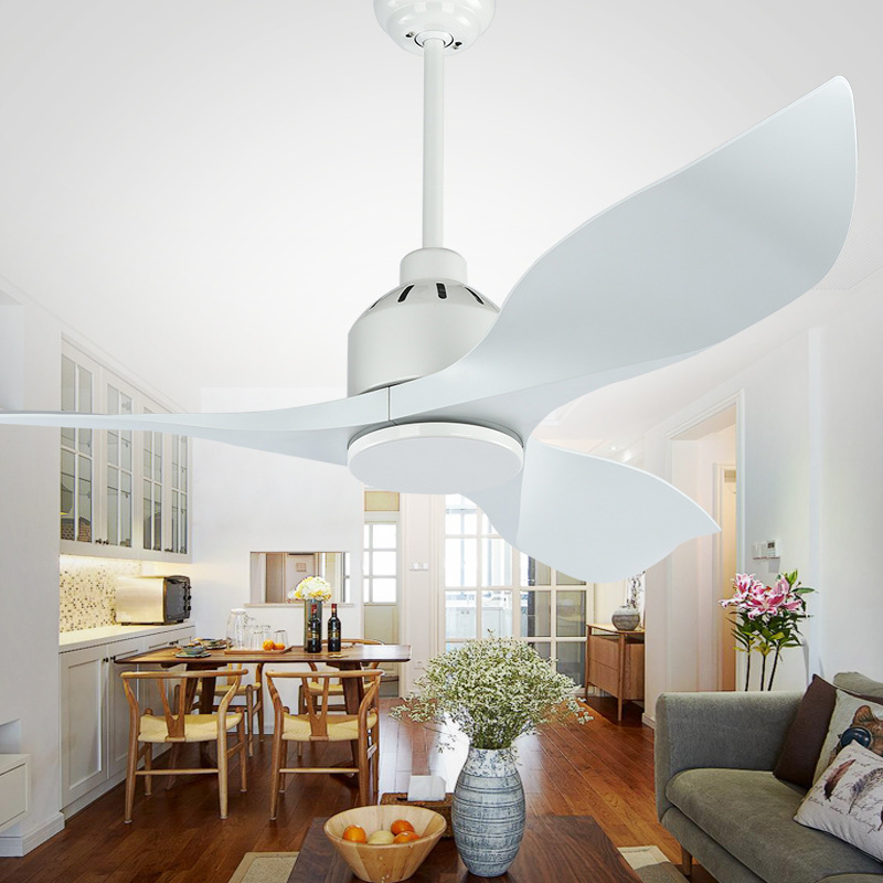 LukLoy Nordic Ceiling Fan Light Frequency Conversion DC High-end Living Room Restaurant Simple American Retro Electric Fan Lamp