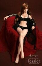 bjd accessories 1/3 1/4 bjd clothes female bjd Doll jessica similar dress black sexy suit underwear bra large black short skirt