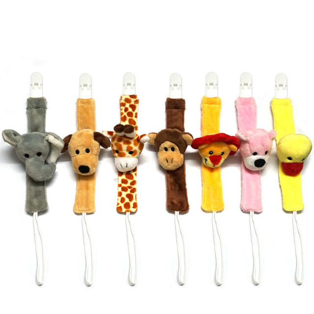Cute Plush Baby Pacifier Holder Nipple Chain BabyTeether Chain Toy Dummy Holder Chain Pacifier Clip Pacifier Chain B0736 1