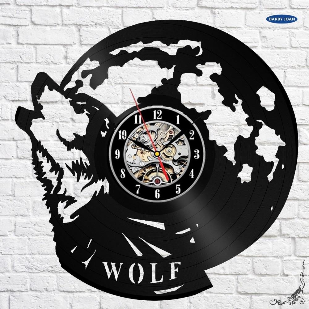 Wolf Figurine Gift Design Art Wall Clock 12 Inch 30cm