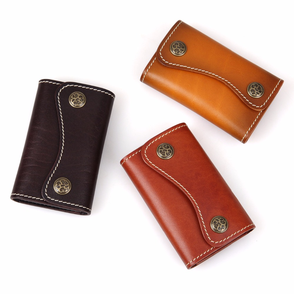 J M D High Quality Vegetable Mini Key Bag Women Leather Men 39 s Car Key Case 8130 Bronze Hardware in Key Wallets from Luggage amp Bags