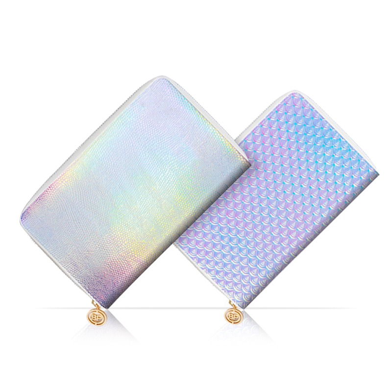 BORN PRETTY Mermaid Holo Snakeskin Stamping Plate Collection Holder Pink Nail Plate Organizer Tools 72 Slots  24 Slots