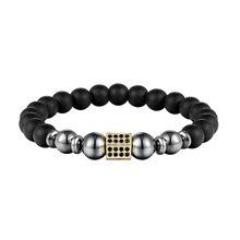 Браслет JAAFAR с натуральным жемчугом, цепочка с узором, проложенный микро черный камень из циркона, квадратный рок, мужской ювелирный браслет as319