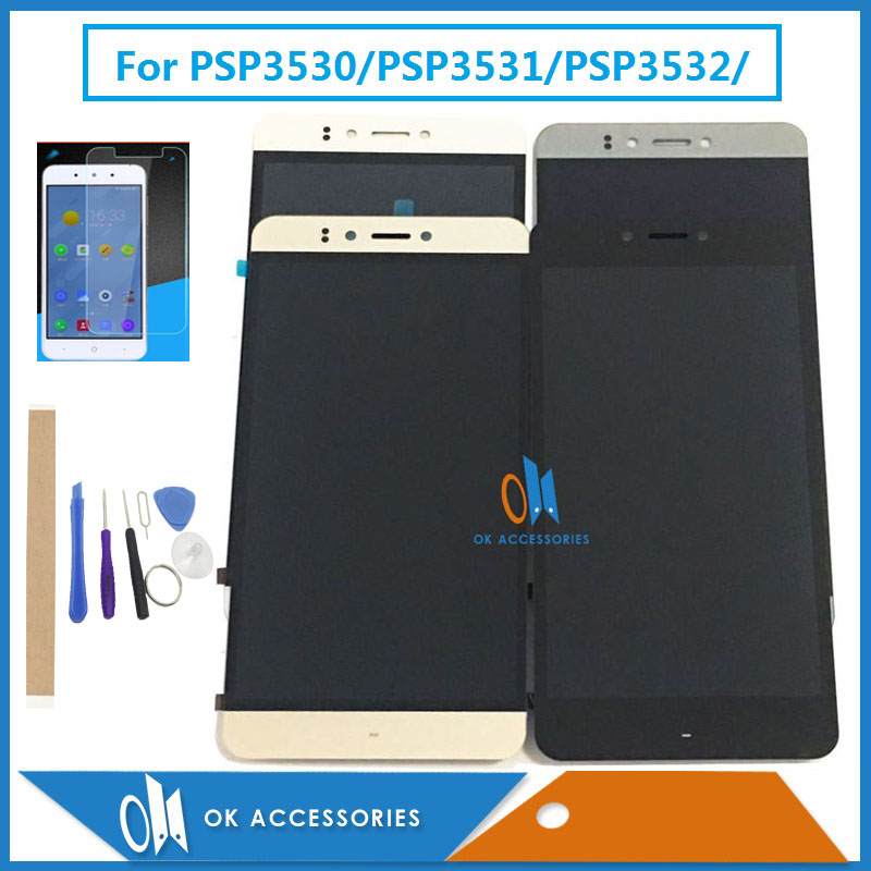 For Prestigio Muze E3 PSP3531Duo PSP3531 D3 PSP3530 PSP 3531 PSP 3530 F3 PSP3532 LCD Display And Touch Screen Digitizer With Kit