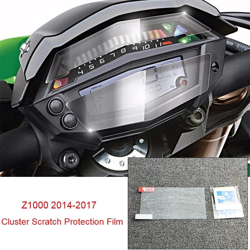 JFG RACING Kawasaki Z1000 2014 2017 Dashboard Veloc/ímetro Cluster Scratch Protector Film Speedo Guards Dashboard Cover