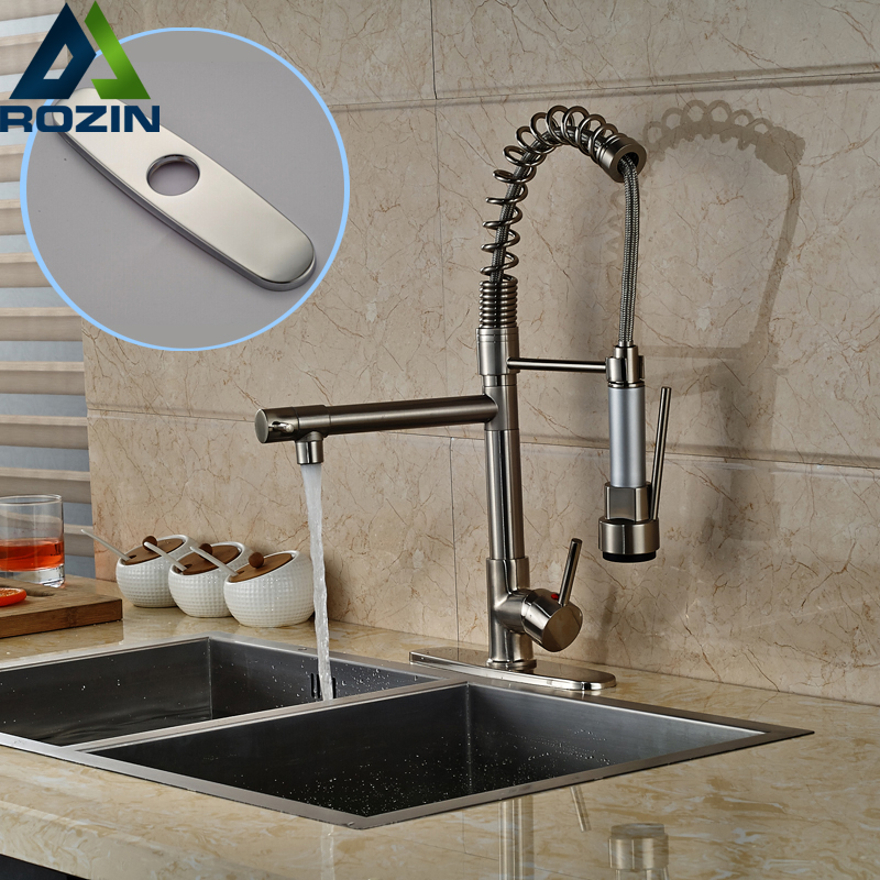 kitchen faucet spout cabinets melbourne fl brushed nickel pull down spring deck mount ...