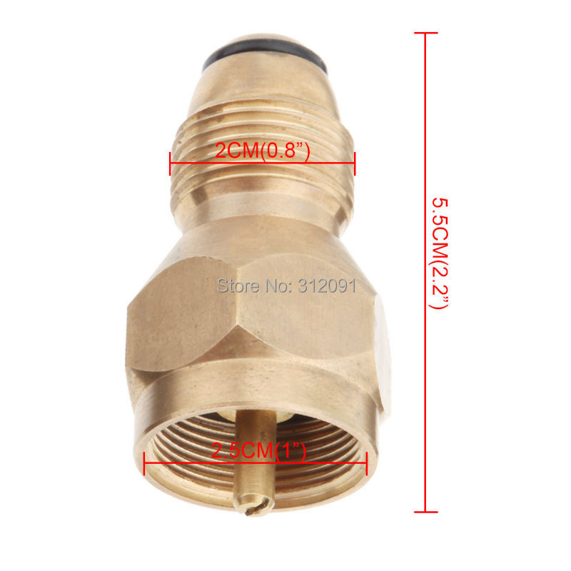 buy amonstar propane refill adapter safest tank fill attachment this brass regulator valve accessory fits all 1 lb cylinder tanks from