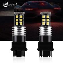 цена на NLpearl 2x Signal Lamp P21W LED BA15S 1156 W16W T15 LED 1157 P21/5W T25 Led 3157 3156 7443 7440 W21W T20 LED Bulb Reverse Lights