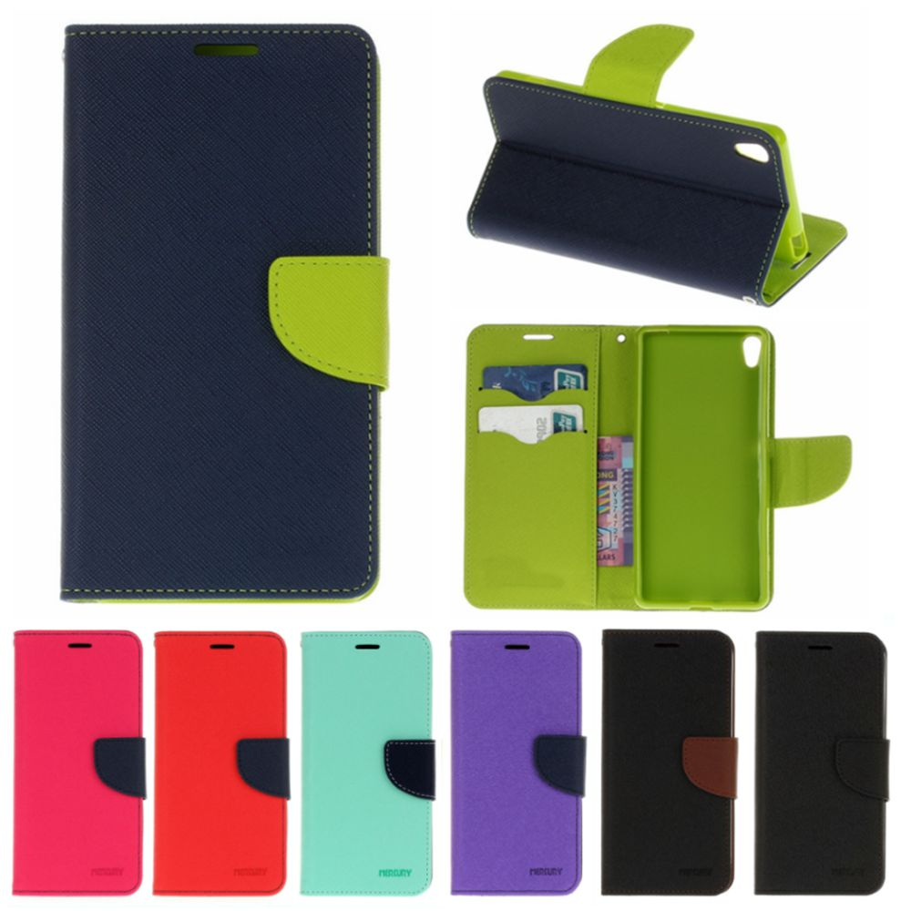 Fashion Leather <font><b>Phone</b></font> Cases for Fundas Sony <font><b>Xperia</b></font> XA Dual F3113 F3112 F3115 Flip Wallet Cover for Sony XA Stand Hit Color Case