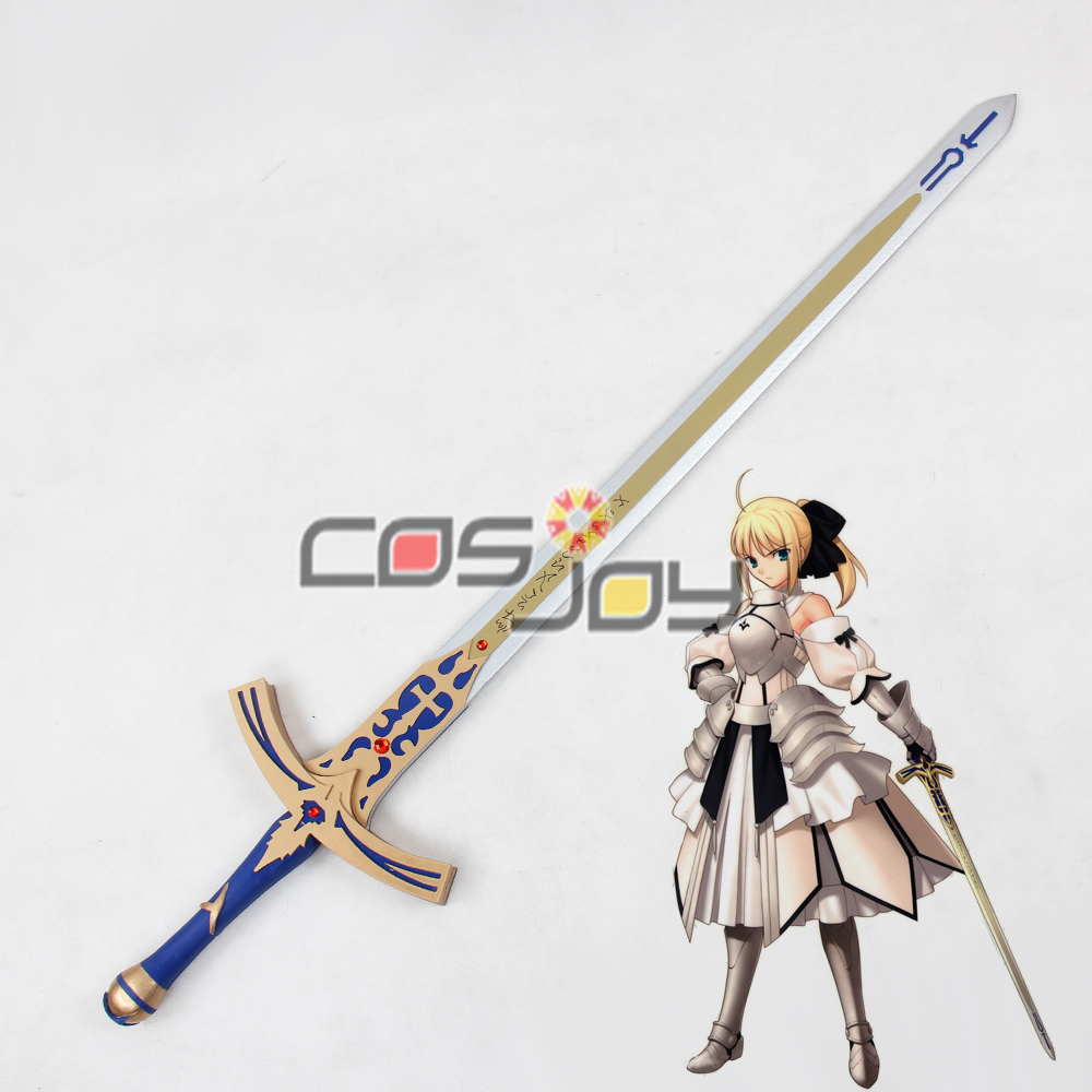 "39"" Fate Stay Night Fate Unlimited Codes Saber Caliburn Sword PVC Cosplay Prop -0201"