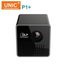 Original UNIC P1 + wifi inalámbrico mini Proyector Móvil Micro DLP LED Hogar Apoyo Miracast DLNA Pocket Proyector de Cine En Casa