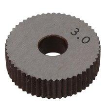 2 шт. Червячная Фреза прямой зерна 3,0 мм колесо накатки HSS колеса Ножи рифленой приспособления для станка токарный станок Колесо для эмбоссирования